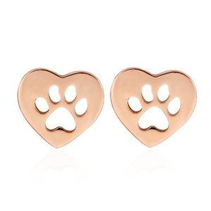 Jewelry - NWOT Heart Shape Rose Paw Animal Lover Earrings nw